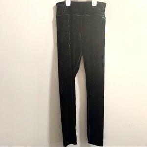 Calvin Klein Crushed black velvet leggings